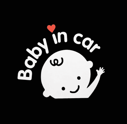 Baby in Car Stickers