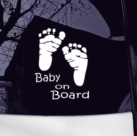 Baby on Board Footprint Sticker