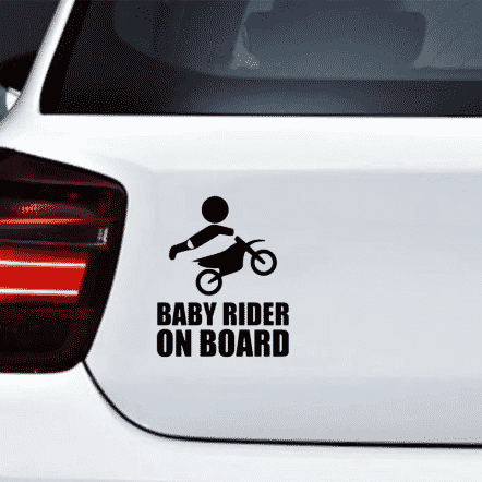 Baby Rider on Board Decal