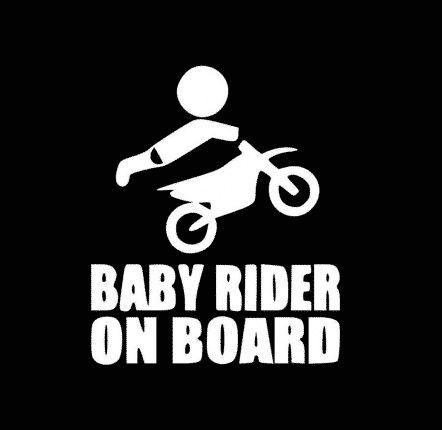 Baby Rider on Board Sticker