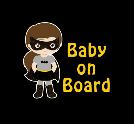 Batgirl Baby on Board Sticker