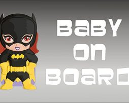 Batgirl Baby On Board Sticker