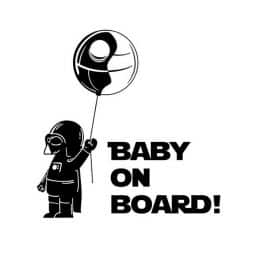 Darth Vader Baby on Board Sticker