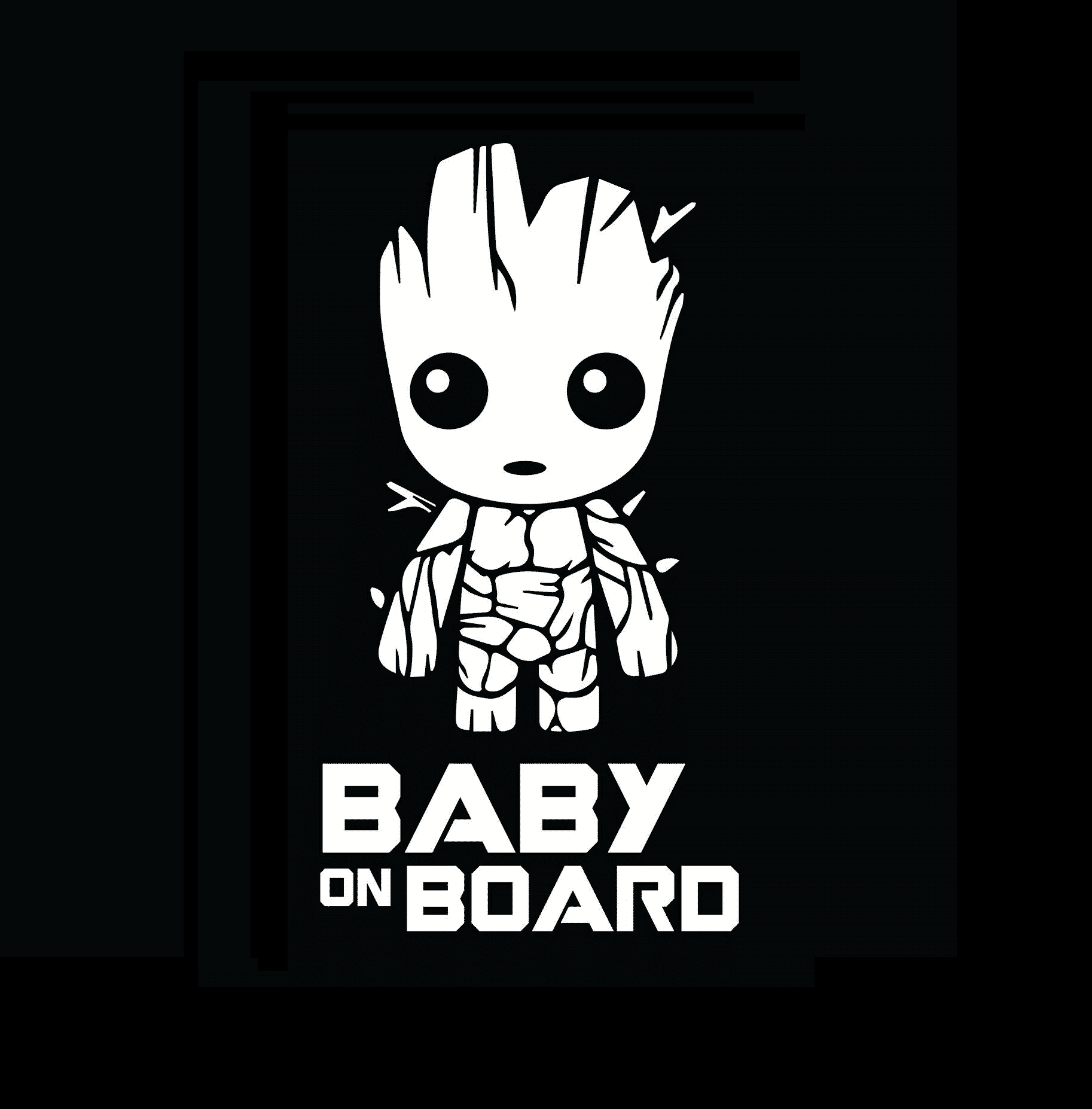 Groot Baby on Board Sticker Decal | Baby on Board Store