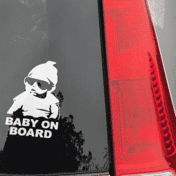 Hangover Carlos Baby on Board Decal