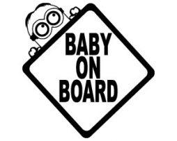 Minion Baby On Board Sticker
