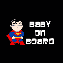 Superman Baby on Board Sticker