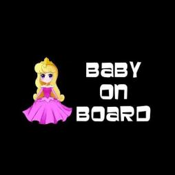 Aurora Baby On Board Sticker