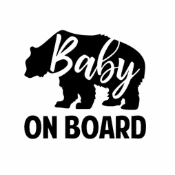 Baby Bear On Board Sticker