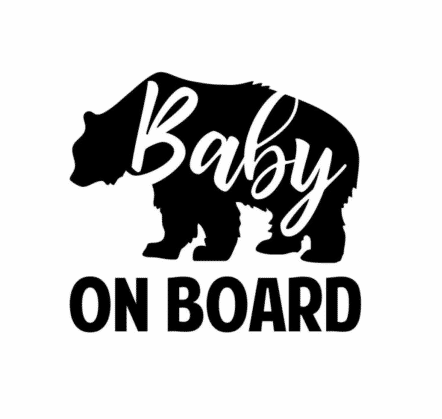 Baby Bear On Board Sticker