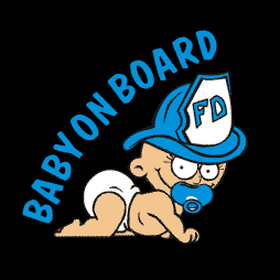 Baby Boy Firefighter aBaby on Board Sticker