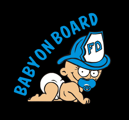 Baby Boy Firefighter aBaby on Board Sticker