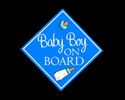Baby Boy on Board Sticker
