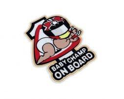 Baby Champ on Board Sticker