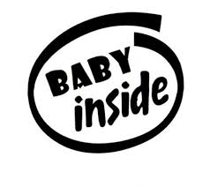 Baby Inside Sticker