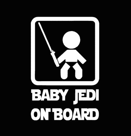 Baby Jedi On Board Sticker Decal