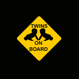Twins Babies on Board Sticker