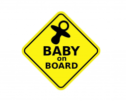 Baby on Board with Pacifier Sticker