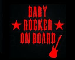 Baby Rocker on Board Sticker
