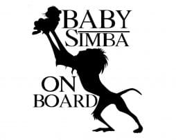 Baby Simba on Board Sticker