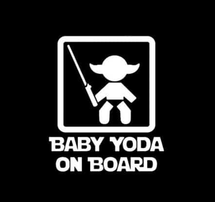 Baby Yoda on Board Stickere