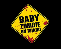 Baby Zombie on Board Sticker