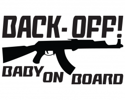 Back Off Baby On Board Sticker