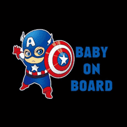 Captain America Baby on Board Sticker