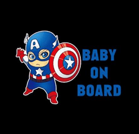 Captain America Baby on Board Sticker
