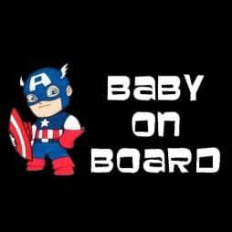 Captain America On Board Sticker