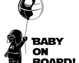 Darth Vader Baby on Board Sticker