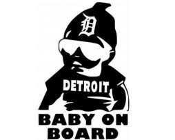 Detroit Baby on Board Sticker