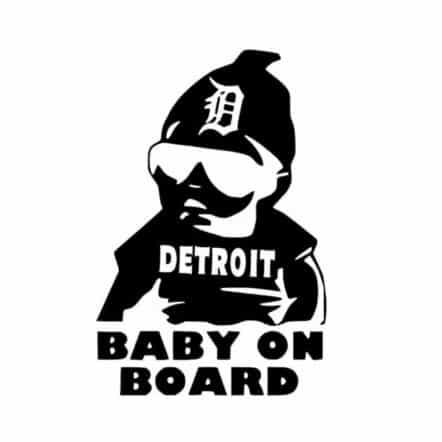 Detroit Baby on Board Sticker