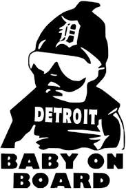 Detriot Baby on Board Decal