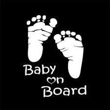 Footprint Baby On Board Decal