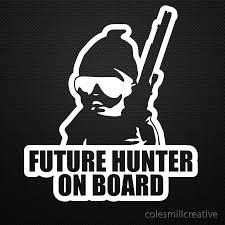 Future Hunter on Board Sticker
