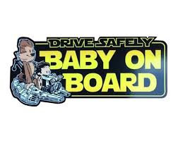Han Solo and Chewbacca Baby on Board