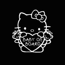 Hello Kitty Baby on Board Sticker