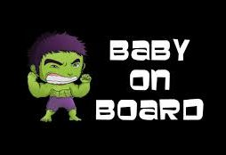 Incredible Hulk Baby On Board Decal
