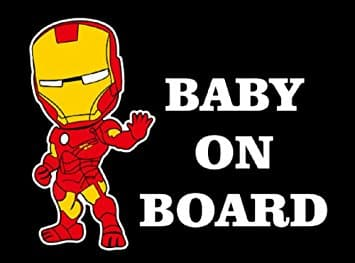 Iron Man Baby on Board Sticker