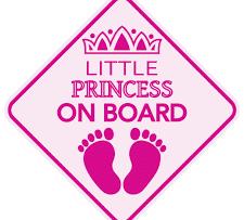 Little Princess on Board Footprint Sticker