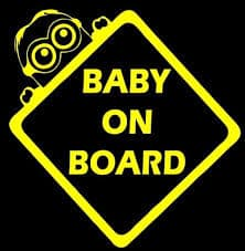 Minion Yellow Color Baby on Board DEcal