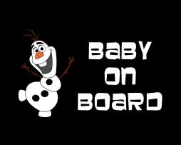 Olaf Baby on Board Sticker
