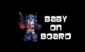 Optimus Prime Baby On Board Sticker
