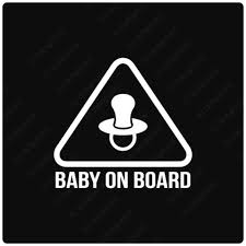 Pacifier Warning Baby On Board Decal