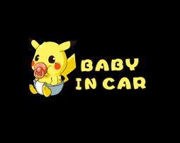 Pikachu Baby on Board Sticker