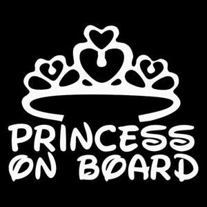 Princess on Board Decal