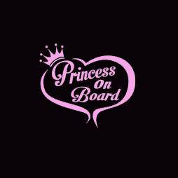 Princess on Board Sticker