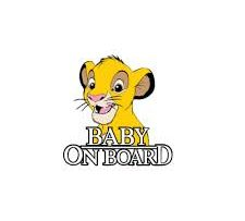Simba Baby on Board Sticker