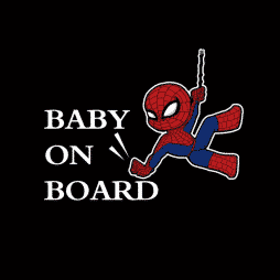 Spiderman Baby on Board Decal
